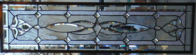 Stained Glass window hanging 46 1/2X 12 1/2