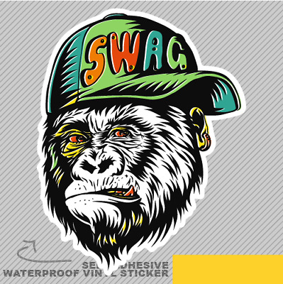 Swag monkey cap modern street style vinyl sticker decal window car van bike 2774