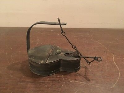 Antique Miners Frog Lamp
