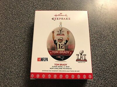 Hallmark 2017 Tom Brady Super Bowl LI MVP NFL Patriots Keepsake Ornament