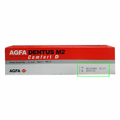 (150 x 2) Agfa Dentus M2 Comfort D speed Size # 2 (3 x 4 cm) X-Ray Film (Double)