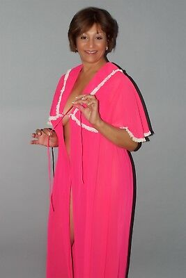 Beautiful Women's Two Piece Vintage Nightgown and Robe Set