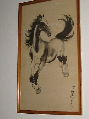 Ed  4414 Pair Of Two Chinese Hand Made Paintings On Paper/framed/ Signed+Stamp