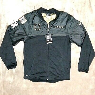 Nwt  100 Nike Indianapolis Colts Nfl Salute To Service Military Jacket Men  S Sm bef703feb