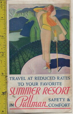 I have a circa 1930s Summer Resorts in Pullman Safety & Comfort Brochure