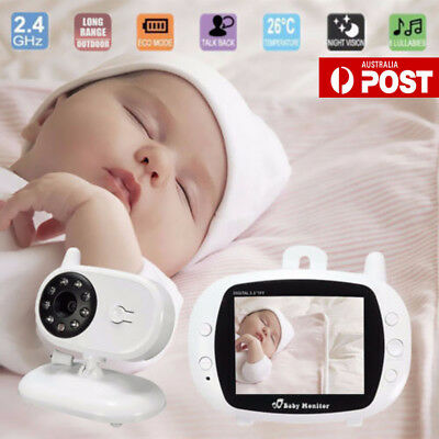 3.5 inch Wireless Digital Video Baby Monitor Night Vision Two Way Talk Camera GT