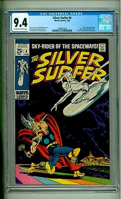 Silver Surfer #4 Cgc 9.4 1969 Thor