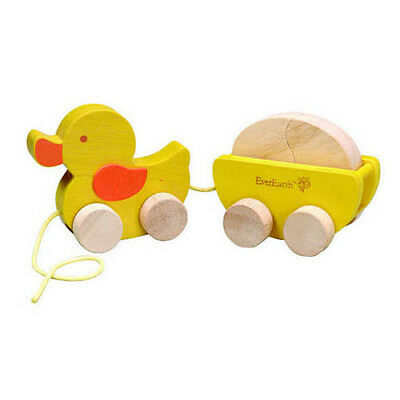 Ever Earth Pull Along Duck and Egg Toddler Wooden Pull Toy 1 PACK