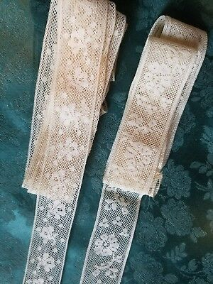 2 similar  antique French Val lace  3+ yards