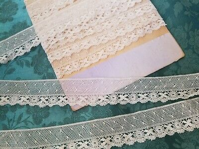 """1"""" Intricate tiny Antique French Maltese Val lace 3 yrds +10"""""""