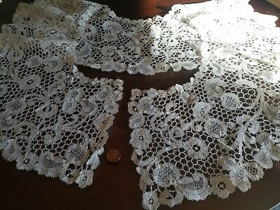 HUGE Honiton Collar Point De Gaze Antique French Princess lace Brussels
