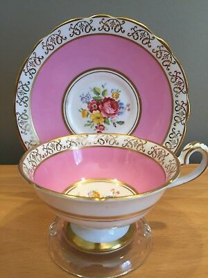 Vintage Royal Stafford English Fine Bone China Footed Teacup & Saucer Set