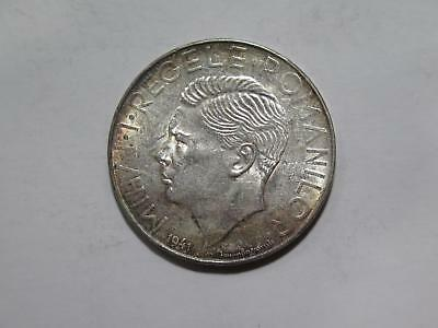 Romania 1941 500 Lei Silver Crown Type Mihai I Toned World Coin Collection Lot