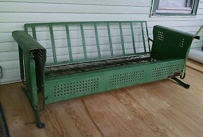 Antique Porch Glider 1940's or 50's Durable Steel Metal