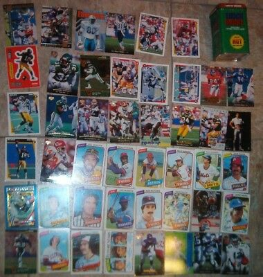 Lot of vintage NFL NBA MLB cards w/ tin case football basketball baseball favre