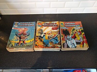 marvel uk transformers comic (27 to 204 - some missing) G1