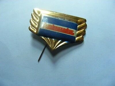 AMBASSADOR motorcycle very old  tinplate/tinlitho pin badge,prob. 1950s..