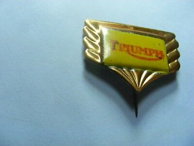 TRIUMPH  motorcycle very old  tinplate/tinlitho pin badge,prob. 1950s..