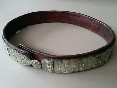 ORIGINAL & AUTHENTICITY silver alloy belt of the Ottoman Empire 19th century.