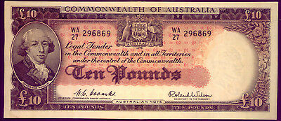 R62 TEN POUND NOTE: COOMBS & WILSON gEF++  LOW  RESERVE