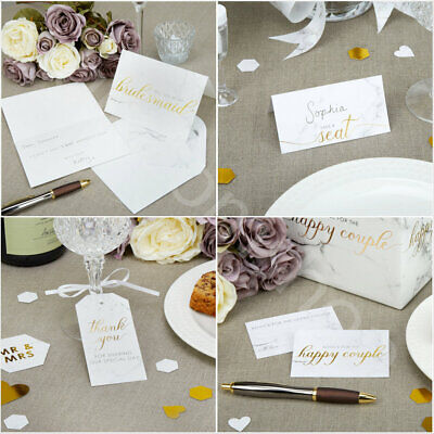 Scripted Marble Gold Party Supplies Tableware Wedding Favours Table Decoration