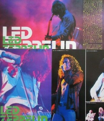 Led Zeppelin Jimmy Page Robert Plant 1977 Clipping Japan Magazine Osrc V2 7Page