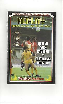 QPR v Tottenham Hotspur FA Cup Final Replay 1982 Football Programme