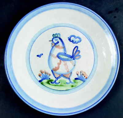 M A Hadley COUNTRY SCENE BLUE Chicken Dinner Plate 5757453