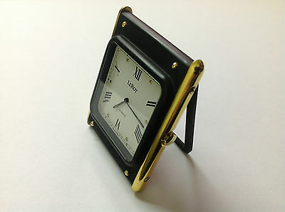 Vintage Table Clock Leroy Quartz - Uhr Tischuhr - Steel