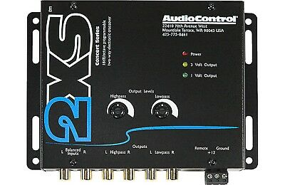 New AudioControl 2XS (Black) 2-Channel Electronic Crossover 9 Volt Line Driver