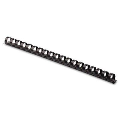 Fellowes Plastic Binding Combs, Round Back, 5/8, 120 Sheet Capacity, Black,