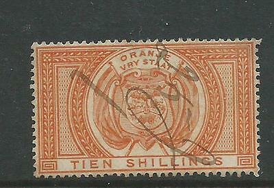 Orange Free State Tien Shillings Fiscal Used 10/- stamp
