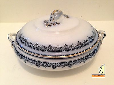 Antique Keeling & Co Losolware Dinnerware Tureen with LId