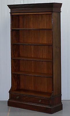 Original Druce & Co Ltd Baker Street Victorian Mahogany Bookcase With Drawer