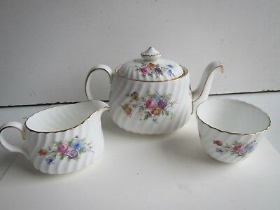 Minton Marlow S309 Porcelain Small Teapot, Sugar Bowl & Milk Jug Set