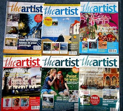SIX ISSUES OF THE ARTIST MAGAZINE [lot-2]