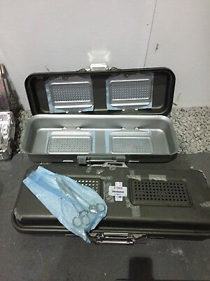Medical Sterilising trays and bits, Stainless steel. JOB LOT £60.00