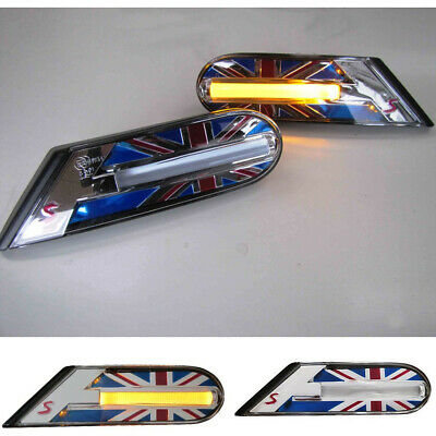 Side Indicators Union Jack Colour for Mini One Cooper R56 from 11/2006 R55 R57