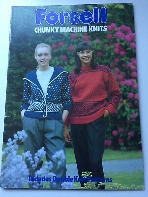 Forsell Chunky Machine Knits includes double knitting patterns
