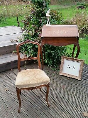 Antique French Louis Style Side Bedroom Chair  - 19th Century