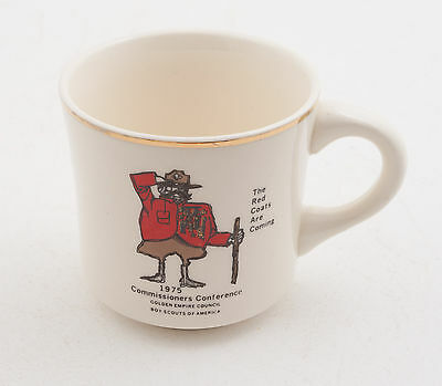1975 Commissioner's Conference Boy Scouts of America BSA Coffee Cup Mug (D5R-16)