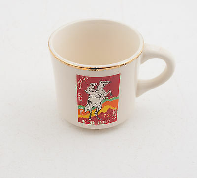 Wild West Roundup 1972 Boy Scouts of America BSA Coffee Cup Mug (D5R-8) Golden