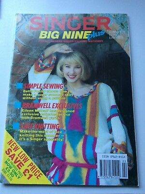 Singer Big Nine plus Pattern book. 30 patterns for knitting machines