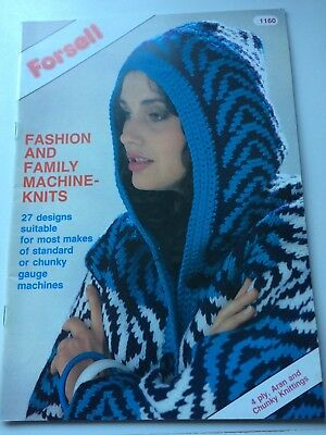 Forsell Fashion and Family Machine Knits 27 designs patterns