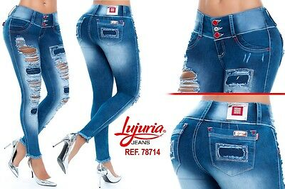Women Lujuria jeans levanta cola butt lift jeans push up colombiano
