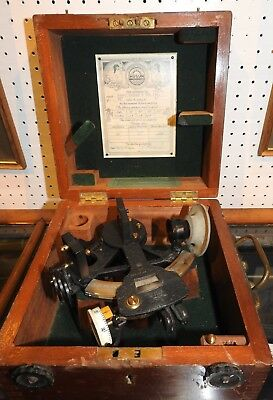 """World War 2 Air Ministry Flying Boat Sextant (Boxed), By """"hughes & Son"""""""