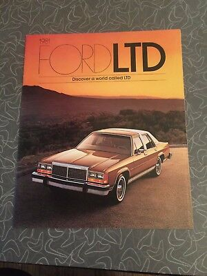 1981 Ford LTD Car Auto Dealership Advertising Brochure