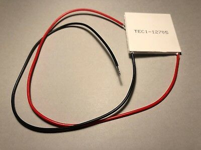 TEC1-12705 Thermoelectric Cooler Peltier 12705 12V 5A 40x40x4mm