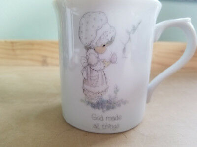 Precious Moments God Made All Things Coffee Mug Tea Cup Collectable 1985
