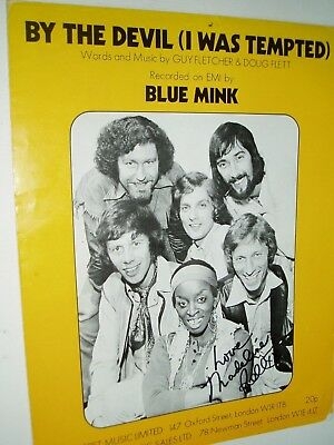 Madeline Bell..................blue Mink... Autograph On Sheet Music.
